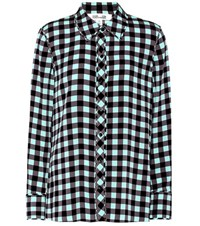 Diane Von Furstenberg Plaid Silk Shirt Multicoloured
