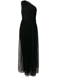 Maria Lucia Hohan One Shoulder Tulle Dress Black
