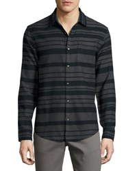 Original Penguin Horizontal Striped Long Sleeve Shirt Black