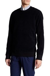 Vince Long Sleeve Reversible Crew Neck Sweater Black