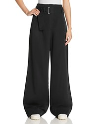 Dkny Pure Belted Wide Leg Pants Black