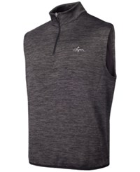 Greg Norman For Tasso Elba Men's Hydrotech Quarter Zip Vest Only At Macy's Charcoal Htr