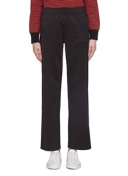 Proenza Schouler Pswl Button Outseam Graphic Embroidered Track Pants Black