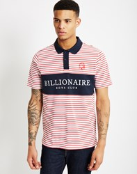 Billionaire Boys Club Monaco Polo Shirt Red Stripe