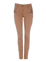 Wallis Camel Double Zip Skinny Trouser