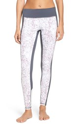 Zella Women's 'Live In Bold Blocked' Slim Fit Leggings White Shatter Print
