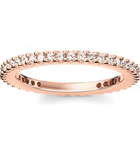 Thomas Sabo Glam And Soul 18Ct Rose Gold Plated Sterling Silver And White Pave Zirconia Eternity Ring