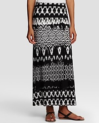 Karen Kane Tribal Stripe Maxi Skirt Black Off White