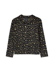 Marc By Marc Jacobs Leopard Lurex Jacquard Sweater Gold