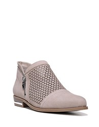 Fergie Ida Perforated Leather Slip On Oxfords Taupe