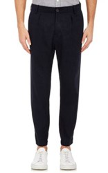 Vince. Men's Urban Linen Blend Crop Chino Pants Navy