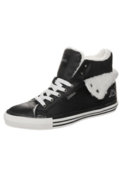 Kappa Baron Hightop Trainers Black Offwhite