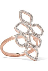 Monica Vinader Riva Rose Gold Vermeil And Sterling Silver Diamond Ring M