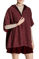 Do Everything In Love Short Dolman Sleeve Hooded Marled Knit Jacket Red
