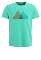 Prana Mountain Slim Print Tshirt Mint Heather Green