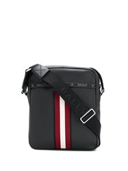 Bally Logo Shoulder Bag Black