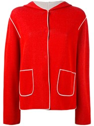 Le Tricot Perugia Fitted Jacket Women Cotton Polyamide Spandex Elastane M Red