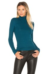 Three Dots Turtleneck Sweater Teal