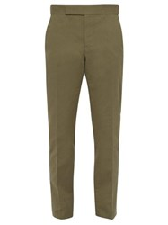Berluti Straight Leg Cotton Chino Trousers Khaki