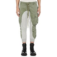 Greg Lauren Cotton Slim Lounge Pants Olive