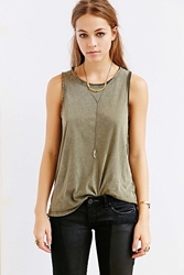 Bdg Boy Meets Girl Tank Top Olive