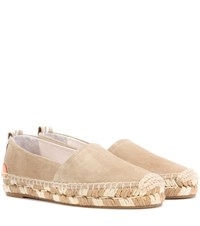 Rag And Bone Adria Suede Espadrilles Neutrals