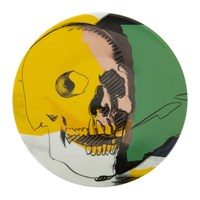 Ligne Blanche Andy Warhol Plate Skull Yellow Pink
