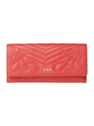 Biba Maxine Flapover Leather Purse Red