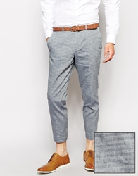 Selected Crop Striped Suit Pants Grey