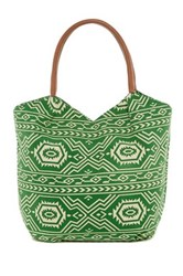 Bueno Of California Aztec Print Canvas Tote Multi