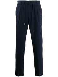 Barba Classic Jersey Trousers Blue