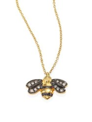 Annoushka Love Diamonds And 18K Yellow Gold Bee Pendant