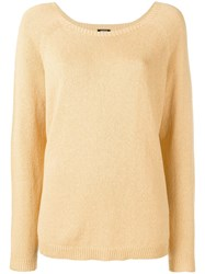 Aspesi Boat Neck Jumper Yellow