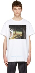 Off White Silver Chirico T Shirt