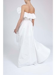 Alexis Mabille Evening Froufrou Dress White