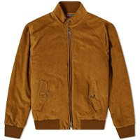 Baracuta G9 Corduroy Harrington Jacket Brown