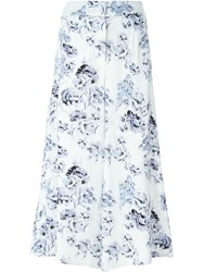 Fay Floral Print Palazzo Trousers White
