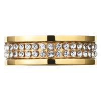 Dyrberg Kern Fratianne Crystal Band Ring Gold