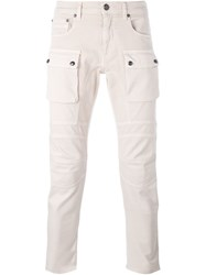 Belstaff Patch Pocket Skinny Trousers Nude And Neutrals