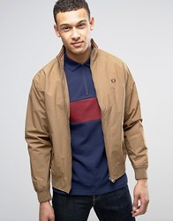 Fred Perry Brentham Mesh Lined Jacket In Tan Bronze Brown
