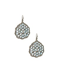 Bavna Amorphous London Blue Topaz And Diamond Drop Earrings Women's