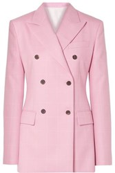 Calvin Klein 205W39nyc Oversized Double Breasted Checked Wool Blazer Baby Pink