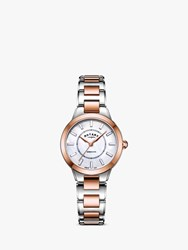 Rotary 'S Kensington Bracelet Strap Watch Silver Rose Gold B05377 41