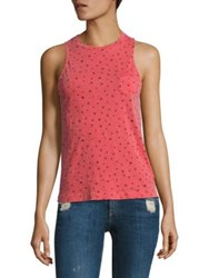 Stateside Star Print Supima Cotton Tank Top Chili