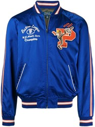 Polo Ralph Lauren Letterman Bomber Jacket Blue