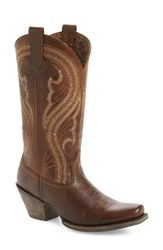 Ariat Women's Lively Western Boot Sassy Brown Leather