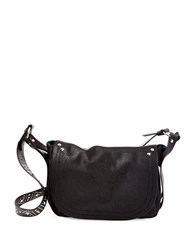 Steve Madden Studded Strap Crossbody Messenger Bag Black