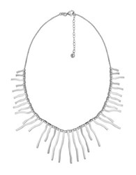 Lord And Taylor Sterling Silver Fringe Necklace