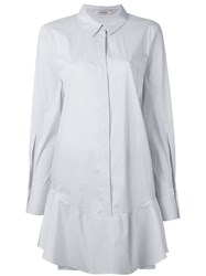 Dorothee Schumacher Pleated Shirt Dress White