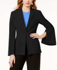 Inc International Concepts I.N.C. Vented Bell Sleeve Blazer Created For Macy's Black